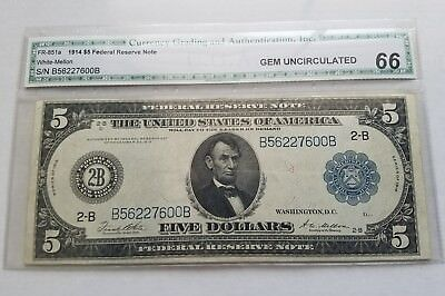1914 $20 Federal Reserve Note Of New York, New York Gem Uncirculated!!!!