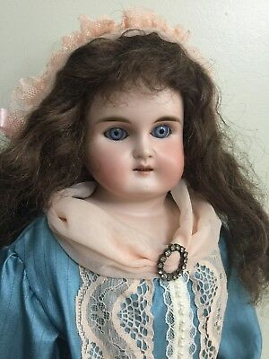 Antique. Bisque Should Doll By Kestner On A Kid Body 21""
