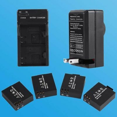 4Pcs 3.7V 900mAh Li-ion Battery Suit for SJ4000 Action Camera DVR For Xbox One
