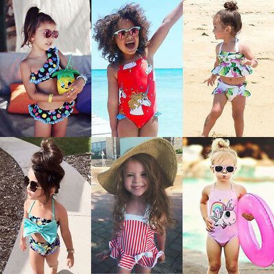 AU Toddler Kid Baby Girls BIkini Swimwear Swimsuit Bathing Suit Beachwear Summer
