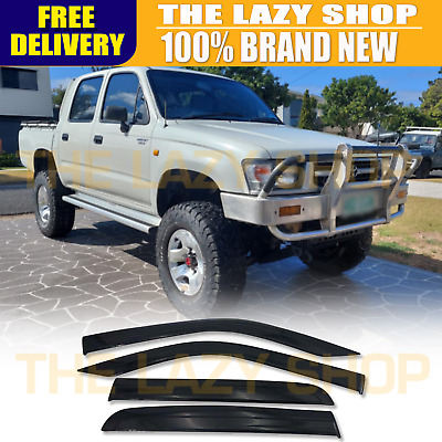 Weathershields, Weather shields for Toyota Hilux Dual Cab 97-05 model Sun Visors