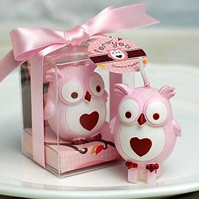 3 x Adorable Mini Owl Candle Cake Toppers - Birthday Christening Baby Shower