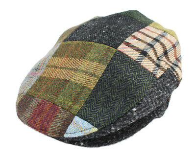 75e6a0df4 IRISH CAP HAT Blue Windowpane Tweed Irish Made By John Hanly Ireland ...