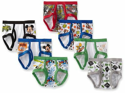 Disney Little Boys' Seven Pack Mickey Mouse Briefs Multicolor 2T/3T