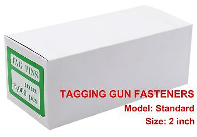 "PAG 5000pcs 2"" Tagging Gun Barbs Fasteners Standard Attachments for Standard ..."