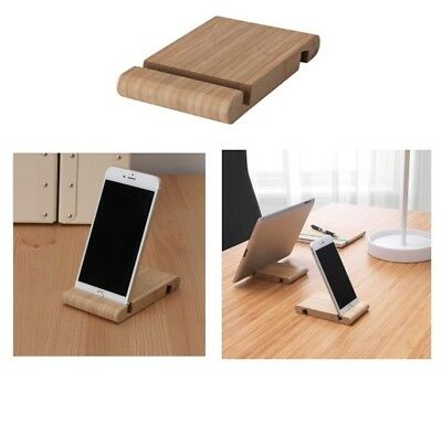 IKEA BERGENES MOBILE Phone Tablet Stand Holder Bamboo Support Smartphone