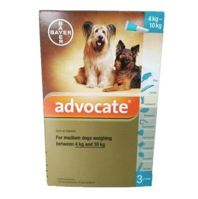 NEW!! Advocate for Medium Dogs Weighing 4-10 Kg 1 Box / 3 tubes +Tracking