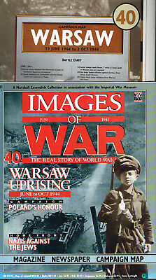 Images of War no40 WARSAW UPRISING June-Oct 1944 Magazine Campaign Map&Newspaper