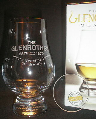 Glen Rothes Glencairn Scotch Malt Whisky Tasting Glass With Watch Glass Cover
