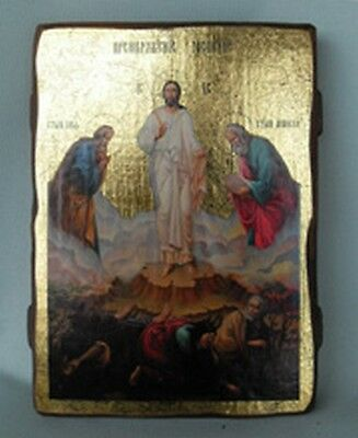Handmade copy ancient icon ORTHODOX ICON Transfiguration of Jesus Christ 146XL