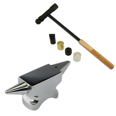 Mirror finish horn anvil steel doming dapping 6 parts hammer tool