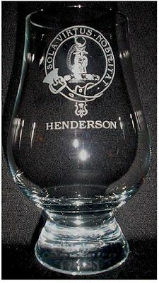 Clan Henderson Scotch Malt Whisky Glencairn Tasting Glass