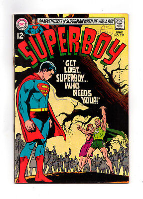 SUPERBOY  #157  (Neal Adams cover)  (Wally Wood inks)  1969