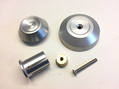 Triumph Speed Triple 1050 Rear Axle Spindle End Cover Plug Kit - SILVER