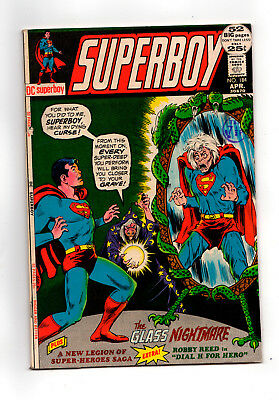 SUPERBOY  #184  (Legion of Superheroes feature, 1st Cockrum art)   1972
