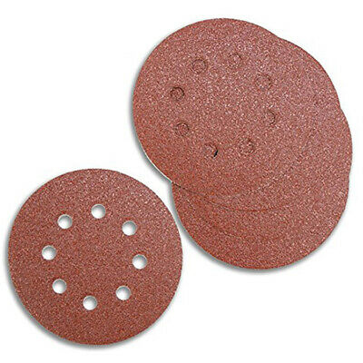 "25 X 5"" 125Mm Hook & Loop Sanding Discs Random Orbital Sander Pads Assorted Grit"