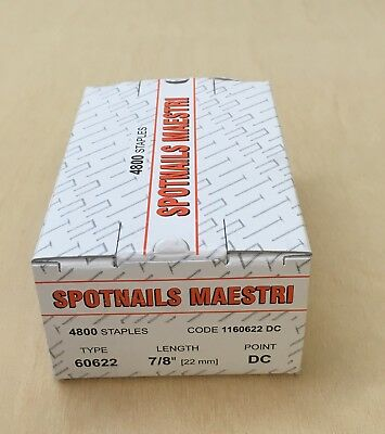 1 x Box of Spotnails Maestri Staples 60622/ ME606 22mm Staples/ 1160622 DC /
