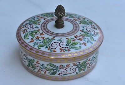 Antique French Porcelain Dressing box, circa 1910