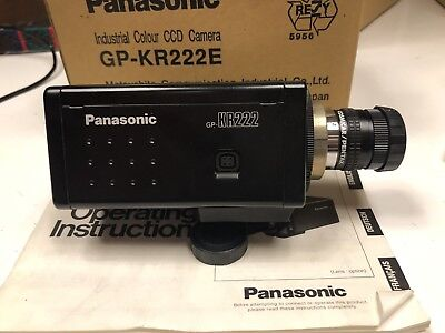 Panasonic GP-KR222E Industrial Colour CCD Camera With Pentax Lens
