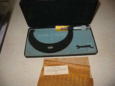 "4""-5"" m&w Moore and Wright Micrometer with box"