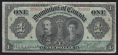 1911 Dominion of Canada $1 Lord and Lady Grey