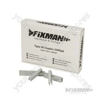 FIXMAN Type 90 Staples 5000pk - 5.80 x 10 x 1.25mm