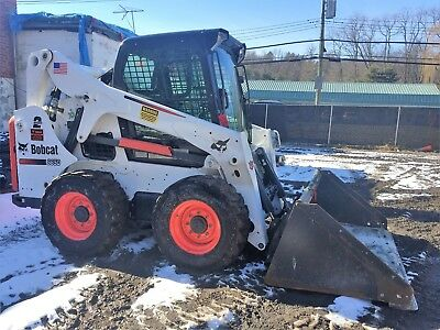 Bobcat S650 Skid Steer Loader Heated Hi Flow Ac Cab Low Hours Bucket 2 Speed
