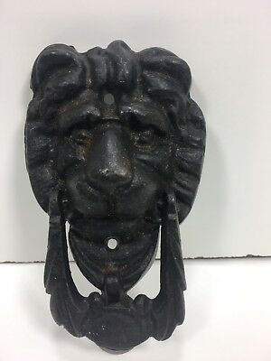 Cast Iron Rustic LION HEAD Door Knocker Vintage Look