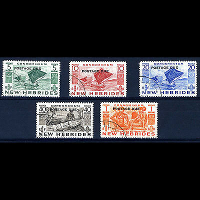 NEW HEBRIDES 1953 Postage Due Set. SG D11-D15. Fine Used. (AM171)