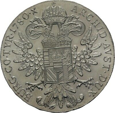 LANZ Habsburg Taler 1780 Maria Theresia Adler RDR  #WV5722