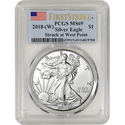 2018-(W) American Silver Eagle - PCGS MS69 - First Strike