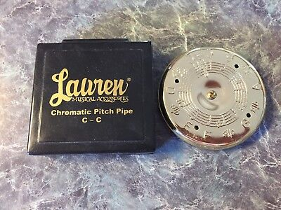 Vintage Lauren Musical Accessories Chromatic Pitch Pipe with Case C-C