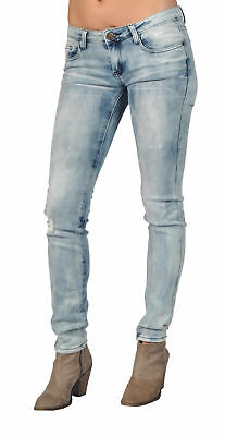 Machine Brand Skinny Fashion Ripped High Fashion Jeans Blue