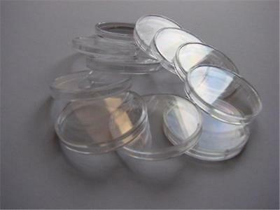 10x Clear Plastic Coin Display Cases Capsules Holder Storage Box 42mm Schulz