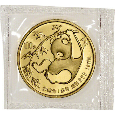 China Gold Panda 1 oz 100 Yuan - BU - Mint Sealed - Random Date