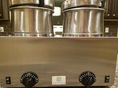 Server Products NSF Twin double food Warmer 81200 FS-4 with 4 qt. insets & lids