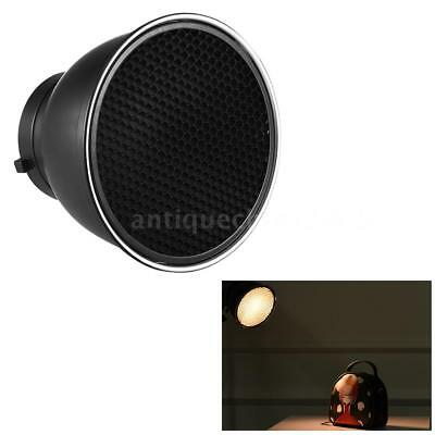 """7""""Standard Lamp Shade Reflector Diffuser with Honeycomb Grid for Bowens Mount"""