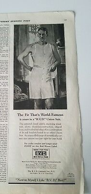 9a9e6906168 1928 B.V.D. BVD men s one piece underwear fit that s world famous vintage ad