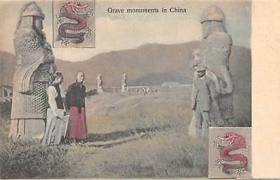 CHINA, SOLDIER STATUES & VISITORS AT MING TOMBS, KINGSHILL PUB #78 c. 1904-14