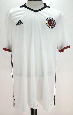 b7cb008d3 Adidas Climacool Men s Colombia FCF Soccer Worldcup Jersey AC2837 White Size  XL