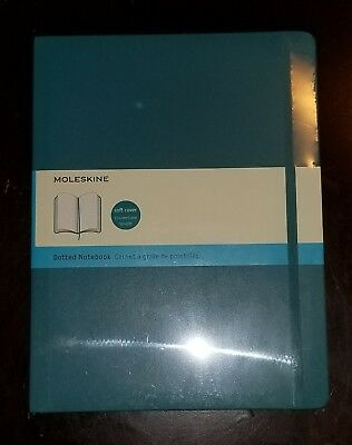 """Moleskine Classic Notebook, Extra Large, Dotted , NEW , Soft Cover, 7.5 x 9.75"""""""