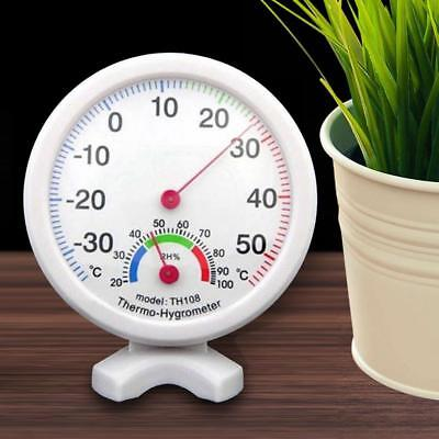 Indoor Outdoor Analog Temperature Humidity Meter Thermometer Wet Hygrometer Tool