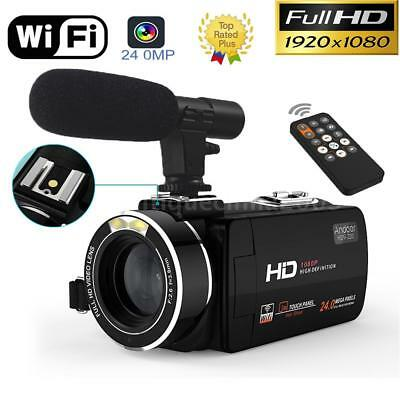 "WiFi HD 1080P 24MP 3""LCD Touch Screen 16X ZOOM Digital Video Camera DV Camcorder"