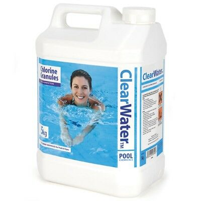 Clearwater 5kg Chlorine Granules - Disinfectant for Pools and Lay-Z-Spas CH0004