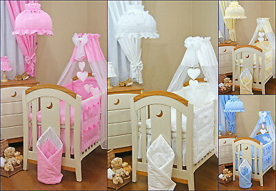 270 cm wide CANOPY DRAPE & Holder - 270x155cm for BABY Cot/Cot Bed