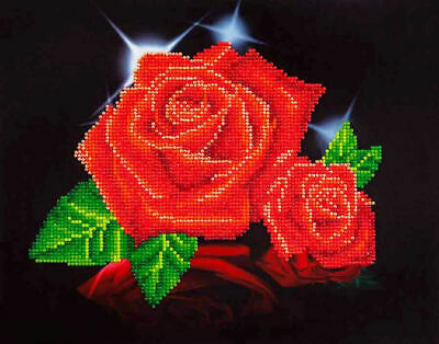 Diamond Dotz 5D Embroidery Facet Art Kit, Intermediate Red Rose Sparkle