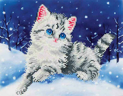Diamond Dotz Embroidery Facet Art Kit, Intermediate Kitten In The Snow