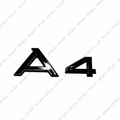 New Audi A4 Logo Rear Black Badge Wing Glossy Emblem Sticker S4 S Line Upgrade