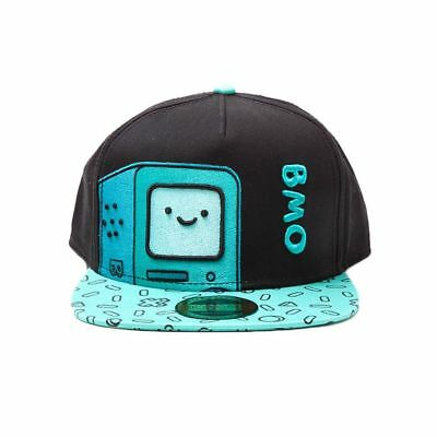 Official Licensed Adventure Time BMO Character Printed Bill Snapback Cap Hat