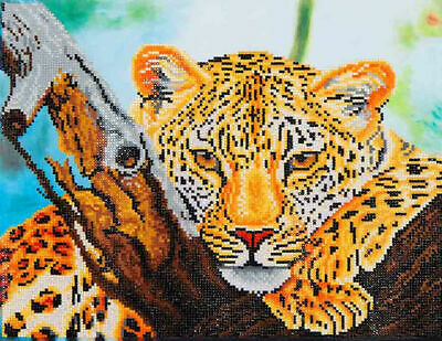 Diamond Dotz Embroidery Facet Art Kit, Intermediate Leopard Look